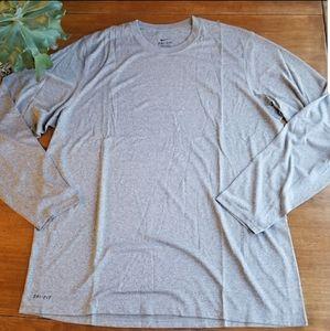 Nike dri-fit long sleeve performance t-shirt